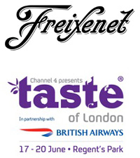 black white logojpg Win a pair of Taste of London Tickets & Freixenet Cava