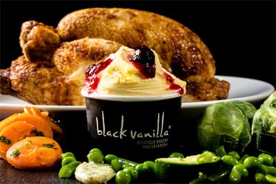 Black Vanilla Ice Cream Christmas Food Ideas